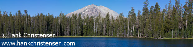 This panorama of Mt. Lassen was composed of 26 separate shots using a long telephoto lens