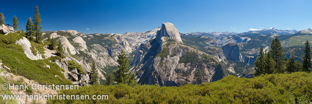 From Glacier Point, the visitor is granted views of Yosemite Valley, Half Dome, and the Yosemite high country