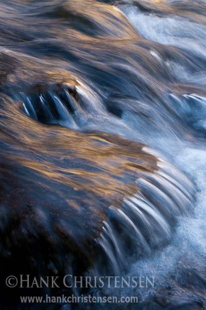 Water pours over rocks, South Fork Bishop Creek, Inyo National Forest, CA