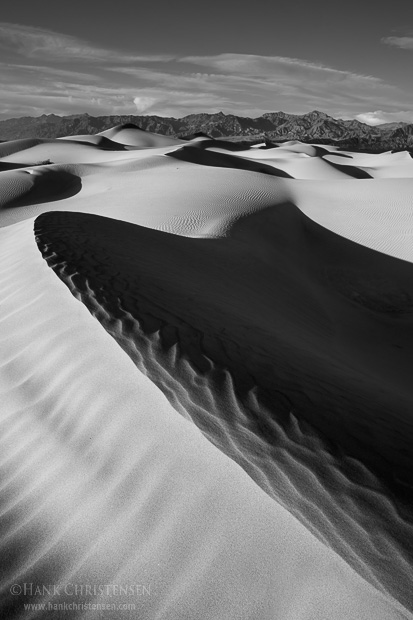 Death Valley's Mesquite Dunes are a study of form and lines