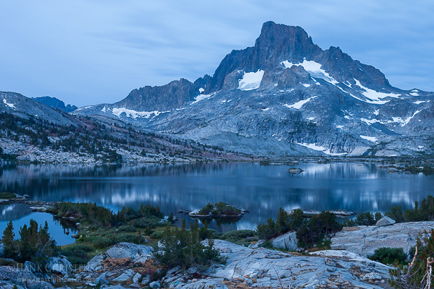 Dawn breaks over Banner Peak and Thousand Island Lake, Ansel Adams Wilderness
