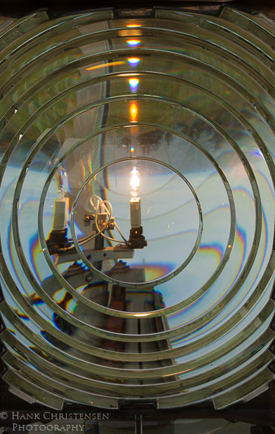 The fresnel lens at the Cape Blanco Lighthouse is one of the largest and oldest in the nation.  It magnifies a small light so that it can be seen up to 23 miles offshore.